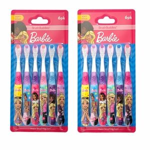 Barbie BrushBuddies Soft Toothbrush Lot (2 packs)